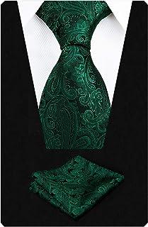 Alizeal Krawatte mit Einstecktuch, Paisleymuster, handgefertigt