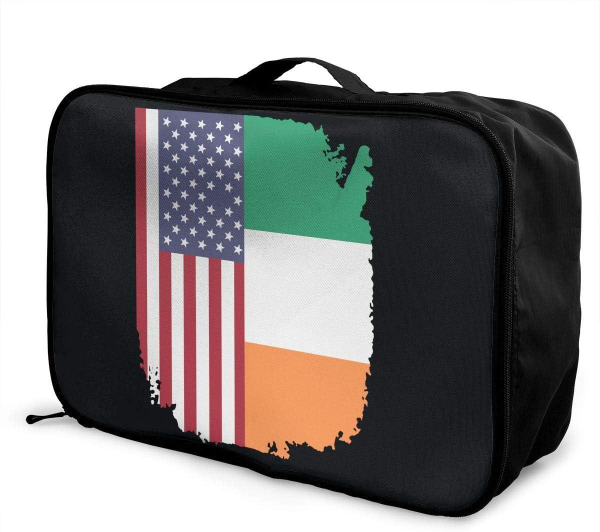 Max 82% Max 81% OFF OFF American Irish Flag Carry Lightweight Large Hi Capacity Portable