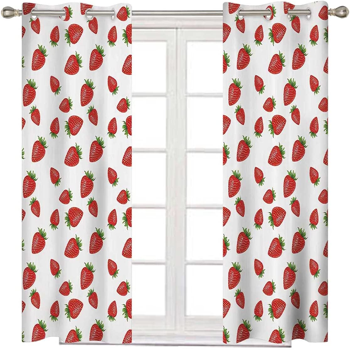 Kitchen Grommet Curtain San Francisco Mall Panel 84 Inches and Long Therm Fort Worth Mall White Red