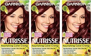Garnier Nutrisse Nourishing Hair Color Creme, 452 Dark Reddish Brown (Chocolate Cherry), 3 Count (Packaging May Vary)