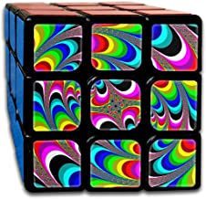BSOTFY 3x3 Rubik Cube Spiral Dizzy Fancy World Smooth Magic Cube Sequential Puzzle