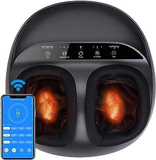 دستگاه ماساژور پا RENPHO با ارتقا گرما ، کنترل WiFi هوشمند ، خمیرمایه عمیق شیاتسو ، فشار دادن ، رفع ناراحتی های پا از ورم کف پا ، مناسب پا تا مردان اندازه 12