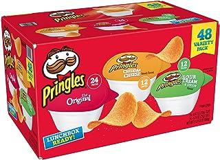 Pringles Potato Crisps Chips, 48 Variety Pack, Grab and Go.