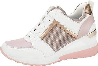 Women's Hidden Wedge Sneakers High Heel Fashion Lightweight Walking Shoes