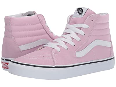 Vans Kids SK8-Hi (Little Kid/Big Kid) (Lilac Snow/True White) Girls Shoes