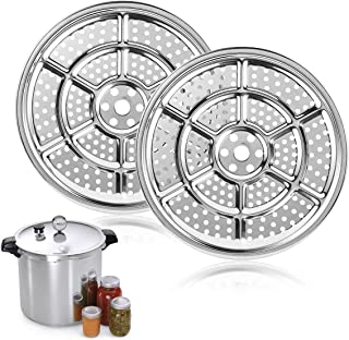 AIEVE 2 Pack 11 inch Stainless Steel Pressure Cooker Canner Rack Canning Rack for Pressure Canner Stock Pots Canning Jar Rack Steamer Rack Compatible with Presto, All-American and More Pressure Cooker