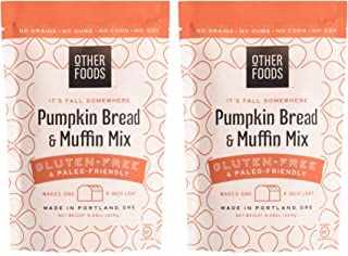 Sponsored Ad - Other Foods Gluten Free Pumpkin Bread and Muffin Baking Mix Paleo Friendly - Easy to Bake, 100% Grain Free,...