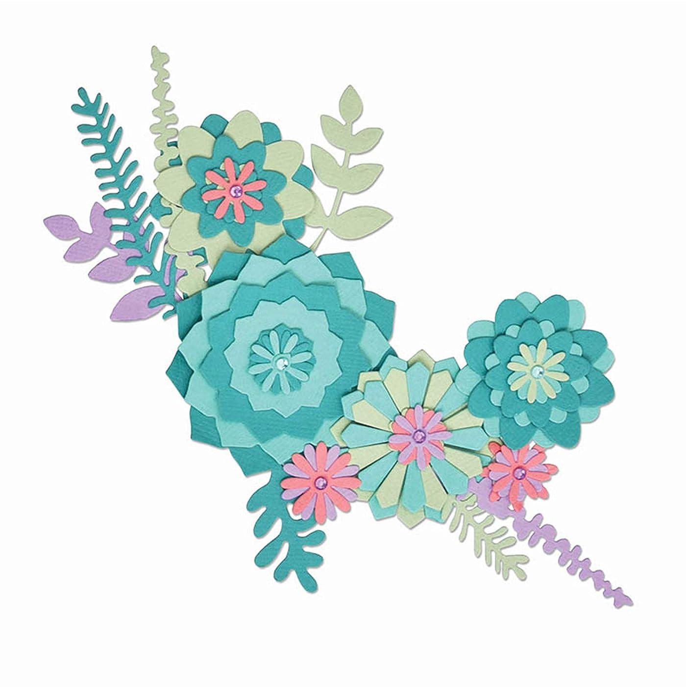 Sizzix 663366 Succulent Wreath Dies, Multicolor
