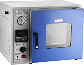 Geindus Vacuum Drying Oven 0.9 Cu Ft 480°F Air Convection Drying Oven with LCD Screen Vacuum Chamber Oven Lab 12 x 12 x 11 Inch MCU-Based Temperature Controller (0.9cu, a)