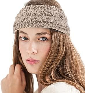 Zodaca Womens Plain Braided Winter Knit Crochet Headband, Warm Knitted Hat Head