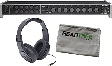 Tascam US-16x08 USB Audio/MIDI Interface with Geartree Cloth and Headphones