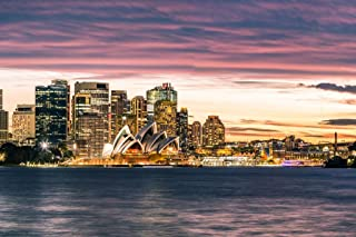 Sydney Australia Opera House Skyline Sunset Photo Photograph Cool Wall Decor Art Print Poster 36x24