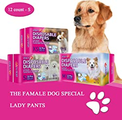 SENYE PET Disposable Dog Diapers Female Wraps