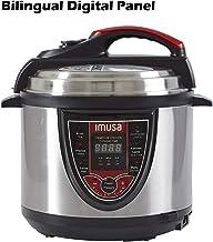 IMUSA USA GAU-80106 5Qt Electric Stainless Steel 5-Qt. Bilingual Digital Pressure Cooker,..