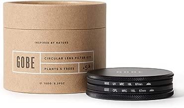 Gobe 67mm Circular Polarizing  CPL  Lens Filter Kit  3Peak