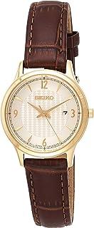 SEIKO Women's Quartz Watch, Analog Display and Leather Strap SXDG96P1