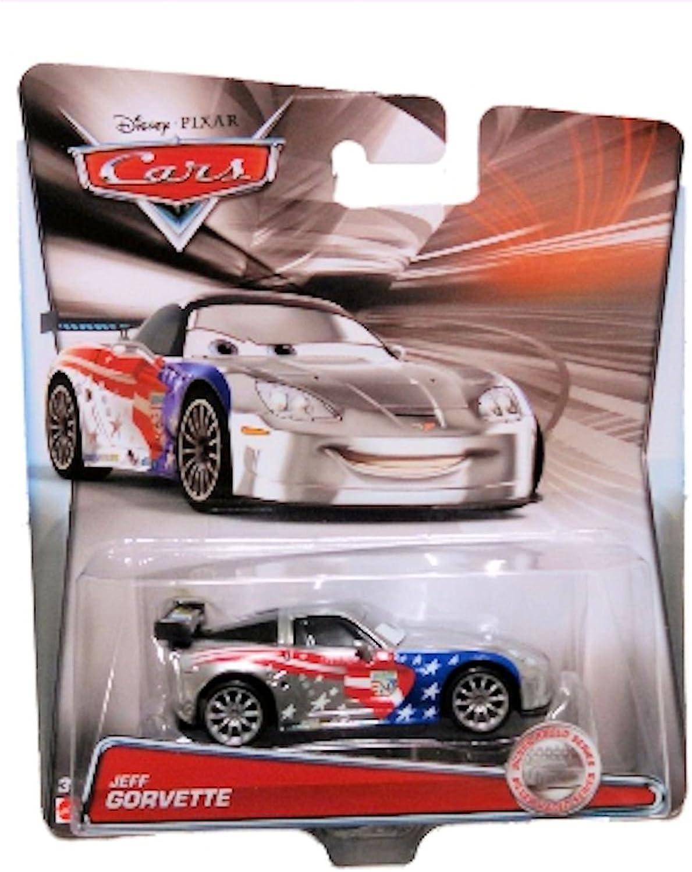 Disney Pixar Cars - 1 55 Scale Diecast Silver Racer Series - Jeff Gorvette