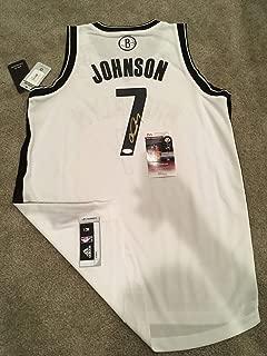 Joe Johnson Autographed Signed Official Swingman Jersey Hawks Rockets Nets JSA Coa