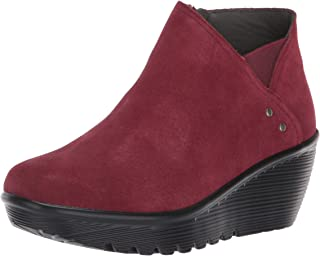 Women's Parallel-Ditto-Asymmetrical Collar Suede Bootie Ankle Boot,