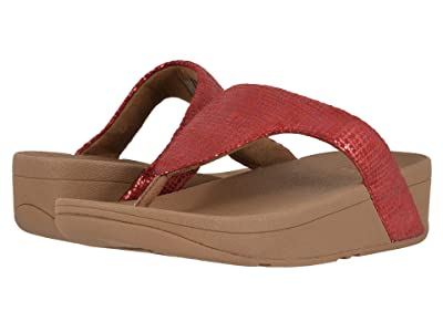 FitFlop Lottie Chain Print (Adrenaline Red/Chipmunk) Women