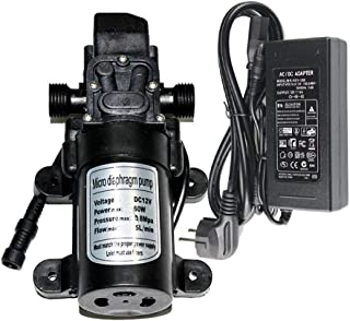 EONBON 12V 60W 5L/min Fresh Water Pressure Self Priming Sprayer Pump, Water Pressure Diaphragm Pump DC 12V Self Priming Pump for RV Caravan Camper Marine Boat Lawn