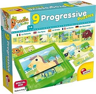 Multi Colour Liscianigiochi 58440 CAROTINA Baby 9 Progressive Puzzle The Farm One Size