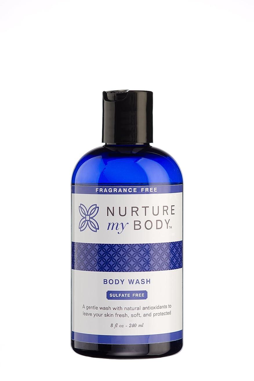 フラフープ思慮のない第Nurture My Body Fragrance Free Organic Body Wash - SLS Free - For Sensitive Skin - 8 fl oz by Nurture My Body