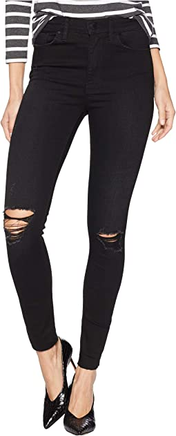 Barbara Ankle High-Waist Skinny Raw Hem Jeans in Westbound