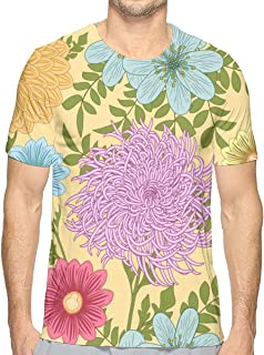Geometrical Seamless Chaotic Short Sleeve Tee Novelty Teen Unisex T Shirt