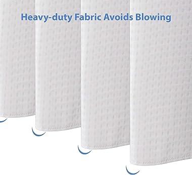 AmazerBath White Shower Curtain for Bathroom Waffle Shower Curtain 72x72 Inches Hotel Shower Curtain Machine Washable 230 GSM