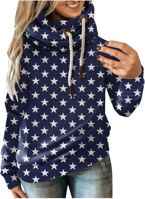 YANFANG Sudadera con Capucha de Mujeres Oto/ño Invierno Casual Sport Star Leopard Prints Pullover,Baratas Jersey Casual Camiseta Oto/ño Invierno Sudaderas Blusa Tops Pullover