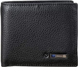 Modoker Smart Anti Lost Wallet, Men Cowhide Leather Bifold Wallet, Best Gift for Men (Black)
