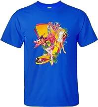 Jiuhe Men's Cartoon Jem and Hologram Short Sleeve Cotton T Shirt