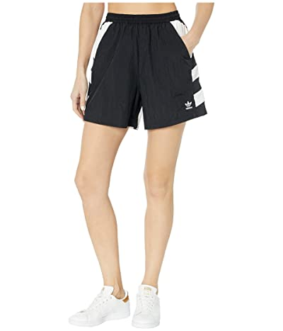 adidas Originals Large Logo Shorts (Black/White) Women