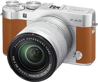 Fujifilm X-A3 CAMEL - Cámara EVIL de 24 MP (pantalla táctil de 3 obturador electrónico video Full HD Wifi) - kit cuerpo con objetivo XC 16-50 mm Camel