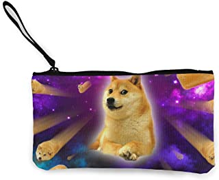 shuangshao liu Women's Wristlet Wallet Clutch for Smartphones with Wrist Strap Card Coin Purse Case - Purple Space Doge