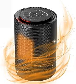 Sendowtek Calefactor Baño PTC Calefacción de Cerámica Mini Calefactor con 3 Ajustes de Temperatura Protección contra para ...