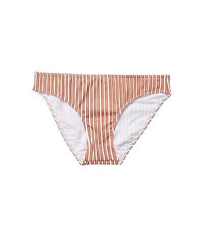 Roxy Sandy Treasure Full Swim Bottoms (Bright White Lotus Stripes) Women