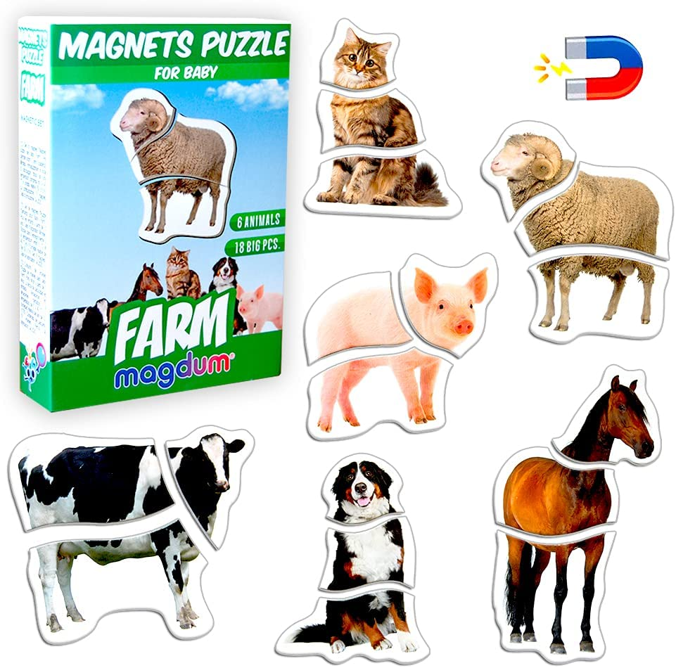 Magnetic Puzzles for Limited time trial price Kids Ages 3-4 MAGDUM shipfree Farm by Toddler - Puzz