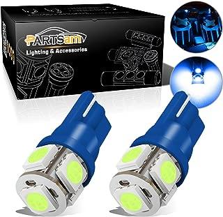 Partsam T10 LED Light Bulbs 194 168 175 2825 Lights Car Interior Dome Map Door Courtesy License Plate Light-2Pcs Ice Blue