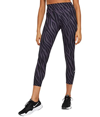 Nike One 7/8 All Over Print Tights Icon Clash (Dark Raisin/White) Women