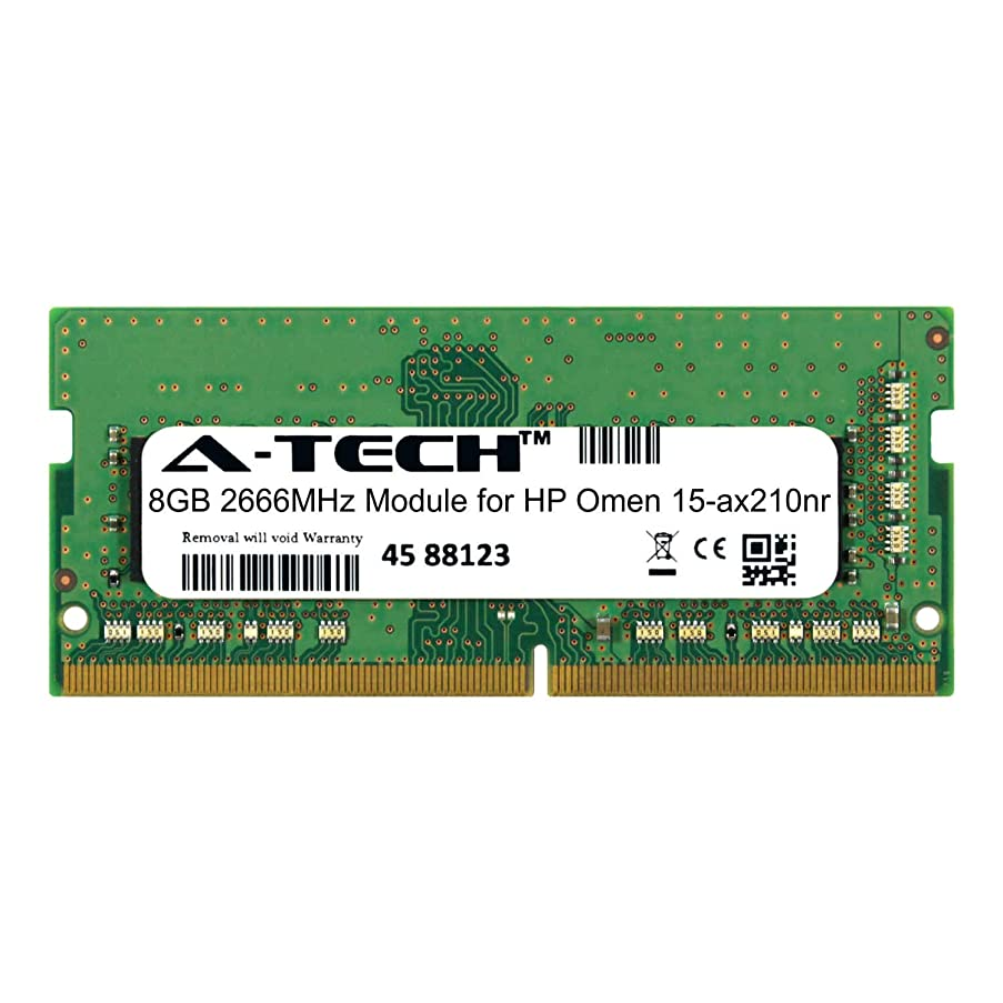 A-Tech 8GB Module for HP Omen 15-ax210nr Laptop & Notebook Compatible DDR4 2666Mhz Memory Ram (ATMS279906A25978X1)