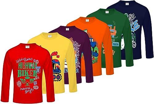 Kiddeo Boys' T-Shirt (Pack of 6)