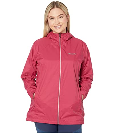 Columbia Plus Size Switchbacktm Lined Long Jacket (Red Orchid/Red Orchid) Women