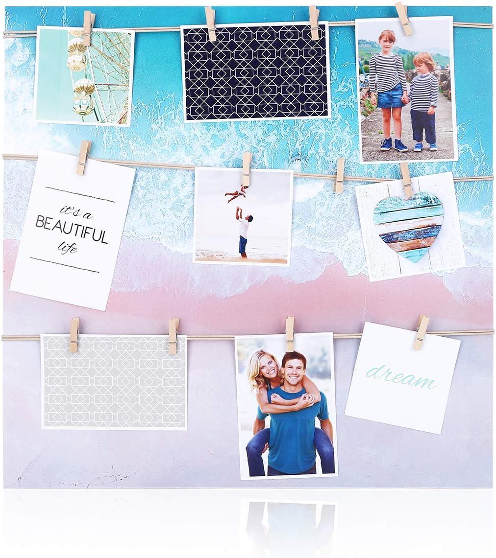 SALENEW very popular HANTAJANSS New York Mall Clip Photo Holder Large Picture Frame Collage
