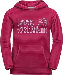 Jack Wolfskin Girl's Modesto Hoody Lightweight Fleece Sweater, Bluesign