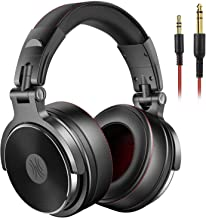 OneOdio Adapter-Free Over Ear Headphones for Studio Monitoring and Mixing, Sound Isolation, 90° Rotatable Housing with Top Protein Leather Earcups, 50mm Driver Unit, Wired Headsets with Mic (Pro-50)