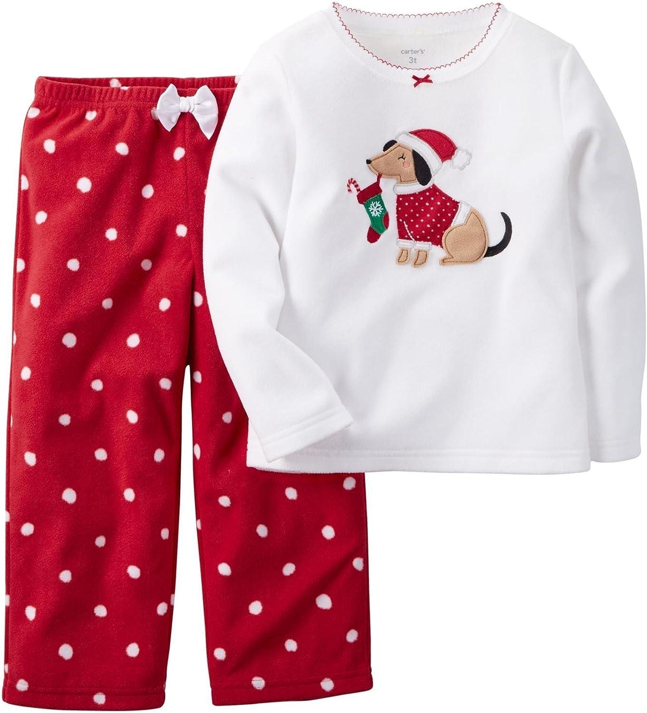 Carter's Baby Girls' 2 Piece PJ Set (Baby) - Ivory Dog - 12 Months