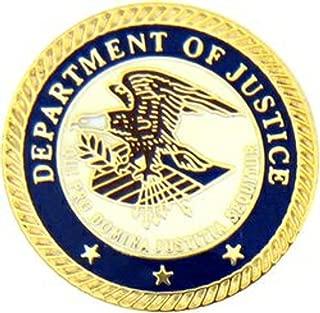 department of justice lapel pin