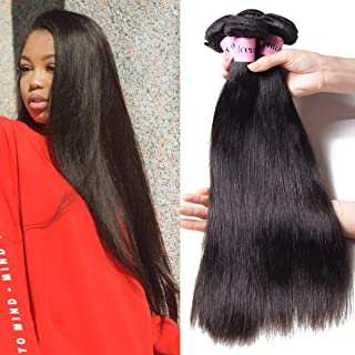 UNice Hair Icenu Series 8A Grade Peruvian Straight Hair 3 Bundles 100% Unprocessed Remy Human Hair Weave Extensions Natural Color (8 10 12)